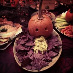 Halloween food - guacamole dip!
