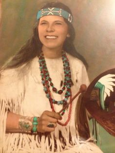 Penobscot Indians | Penobscot Indian Princess Goldenrod. Native American. Oldtown, Casco ...