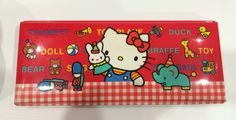 Vintage Hello Kitty Pencil Case 1984 Sanrio made in Japan by TownOfMemories on Etsy https://www.etsy.com/listing/232980425/vintage-hello-kitty-pencil-case-1984