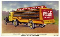Coca-Cola delivery truck postcard