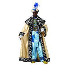 DisfracesMimo, disfraz de rey baltasar adulto lujo.Es perfecto para celebraciones navideñas y cabalgatas de reyes. tales como belenes vivientes,desfiles o las tradicionales representaciones escolares.Este disfraz es ideal para tus fiestas temáticas de disfraces reyes magos adulto
