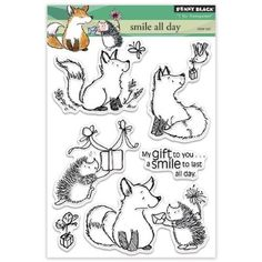 """Penny Black Clear Stamps 5""""X6.5"""" Sheet-Smile All Day"""