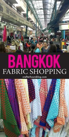 A quick look at fabric shopping in Chinatown, on Sampeng Lane in Bangkok, Thailand