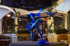 Fabulous Blue - twist shape from Novelty Entertainment. Special event entertainment at Chateau Nightclub, Las Vegas.
