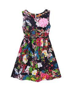 2017 Print Flower Girl Dresses Princess Sleeveless Cute Children Clothing Kids Girls Dress Cotton Blends Kids Clothes 6-14 Years #Affiliate