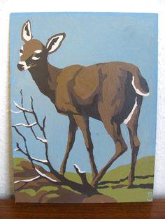 Vintage Paint by Number Deer on Etsy