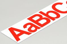 8 cm #magnetic #letters - red #alphabet