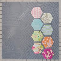 The quilting lines are so cool, like a Japanese garden