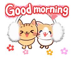 LINE Creators' Stickers - Greeting Stickers Hi Gif, Gif Animé, Gifs, Cute Good Morning Gif, Love You Best Friend, Cute Cartoon Images, Pet 1, Line Sticker, Mickey And Friends