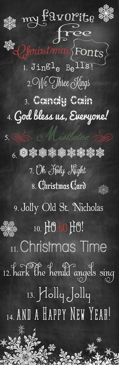 14 FREE Holiday Fonts