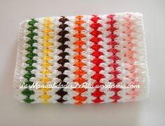 Manta a ganchillo con rombos de colores ganchillo - Mantas ganchillo colores ...