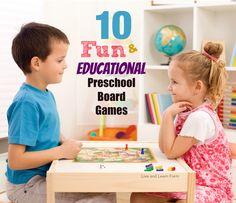 10 Fun and Educational Preschool Board Games - Live and Learn Farm