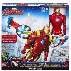 "Marvel Avengers Iron Man w/Hover Pack Titan Hero Series 12"" Action Figure Hasbro #Hasbro"