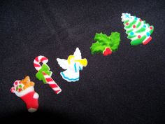Christmas cupcake toppers. Cute and just the right size. #cute #christmas #fun #holiday #cupcake #holly #angel www.astylishcelebration.com.au