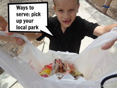 Teaching your kids about ways to serve