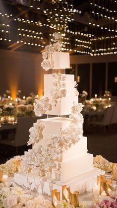 Extravagant Wedding Cakes, Pretty Wedding Cakes, Square Wedding Cakes, Luxury Wedding Cake, Amazing Wedding Cakes, Elegant Wedding Cakes, Wedding Cakes With Flowers, Wedding Cake Designs, Dream Wedding