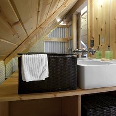 Bathroom Corrugated Metal Design, Pictures, Remodel, Decor and Ideas