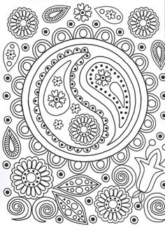 Ying Yang colouring page | Patterns Colouring Book