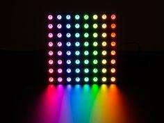 Adafruit NeoPixel NeoMatrix 8x8 - 64 RGB LED Pixel Matrix ID: 1487 - $34.95 : Adafruit Industries, Unique & fun DIY electronics and kits