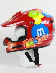 M&M Licensed MotoCross Helmet Off-Road Red