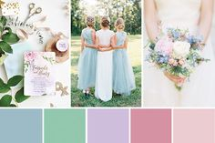 A rainbow of pastel shades accented with gold, rose gold and copper in our Modern Whimsical Pastel Wedding Inspiration.