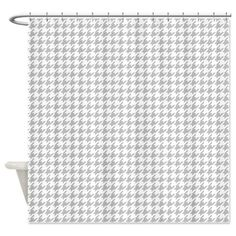 Brown And White Combination Houndstooth Shower Curtain | Houndstooth And  Brown