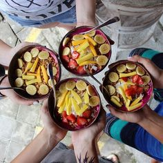 Delicious, Healthy & Colourful Nalu Bowls - Seminyak Bali, below Shelter Cafe