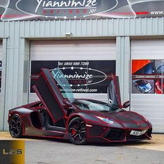 Red Tron ✋Lamborghini Aventador Lp700-4Owner @therealksi Wrapped By @yian