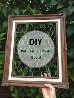 Learn how to make your own refurbished photo board out of chicken wire and an old frame. This is a cheap craft that can make any room pop!