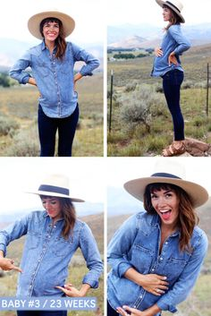 lovetaza | denim + denim + hat + birks