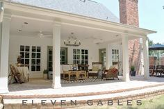 Eleven Gables: Eleven Gables Back Porch Patio Outdoor Living Room