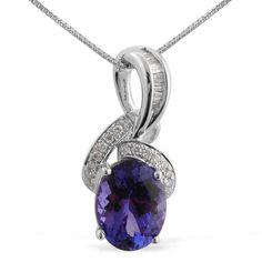 Liquidation Channel   ILIANA 18k White Gold Tanzanite and Diamond Pendant with Chain