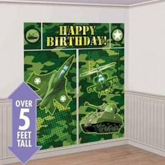 TNT Pixel Birthday Party Plastic Scene Setter Banner Decorations 6ft Tall