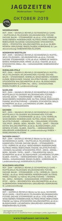 Jagdzeiten saarland