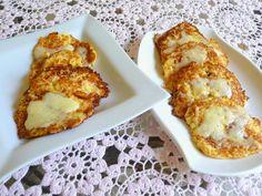 SPLENDID LOW-CARBING BY JENNIFER ELOFF - Double Cheese Cauliflower Cakes.  Visit us at: https://www.facebook.com/LowCarbingAmongFriends