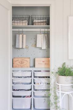 tiny closets can be super useful too! this DIY small closets offers clever storage solutions, great for kids bedroom closet, or craft closet! DIY IKEA trofast storage unit hack. Ikea hacks Tiny Bedroom Storage, Kids Closet Storage, Organize Bedroom Closets, Ikea Office Storage, Craft Closet Organization, Tiny House Storage, Closet Bedroom, Ikea Hack Kids Bedroom, Small Bedroom Hacks