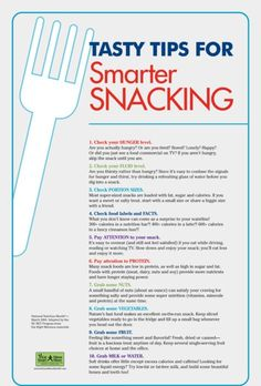 Tasty tips for smarter snacking!