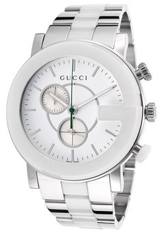 3d83b342530 Stainless Steel   White Dial Chronograph Watch from Gucci Watches on Gilt