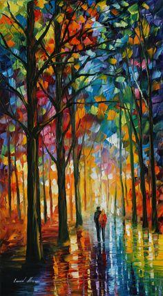 DATE IN THE PARK - LEONID AFREMOV by Leonidafremov.deviantart.com on @deviantART