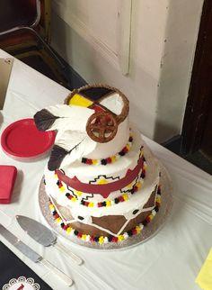Medicine wheel native American wedding cake