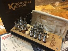E-LIQUID OPTIONS!  Quality and quantity. With so many choices of so many flavors at Knoxville Vapor, you never have to sacrifice one option for another.  We carry 22 National Brands, 34 Individual Lines with over 200+ flavors to choose from and all Made in the USA!  Variable ratios of PG/VG ranging from high flavor content to MAX cloud makers and everything in between. We have spent countless hours finding the best, just for you.  So when you have a moment, come try some new flavors at…