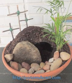Create your own Resurrection Garden with these simple directions. You, too, can have an beautiful display that tells the story of Jesus' Resurrection. Small Palms, Christian Crafts, Easter Dinner, Easter Treats, Easter Eggs, Easter Dyi, Egg Hunt, Easter Baskets, How To Make