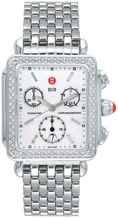 Replica Michele Deco Diamond Stainless Steel Ladies Watch MWW06A000028