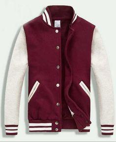 cfa5dcf46569 2013 Dark Red White Varsity Baseball Jacket Women Varsity Jacket Outfit