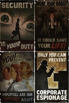 Set of 4 2x3 Fallout New Vegas Repconn MAGNETS by MyGeekBoutique, $9.95