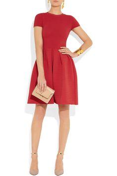 Valentino|Ribbed stretch-crepe dress|NET-A-PORTER.COM