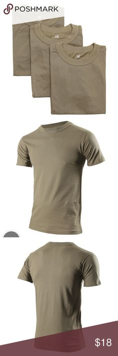 Army OCP 3-pack brown undershirts size large Army OCP 3-pack brown undershirts   📦Same day shipping (as long as P.O. is open for business). ❤ Measurements are approximate. Descriptions are accurate to the best of my knowledge.  Army OCP (Operational Camouflage Pattern) 3-pack brown undershirts. Size Large. Material: 50% cotton, 50% nylon. In excellent condition. Washed and dried but never worn. My husband realized after washing them that he bought the wrong kind. Smoke/pet free home. ARMY…