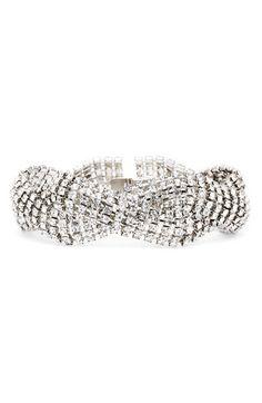 Braided Bracelet $79.79 #bracelet #crystal #braided