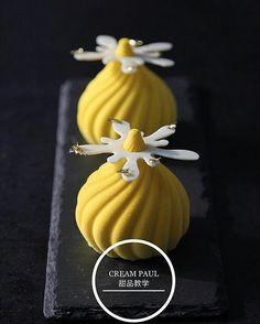 pastryinspirationschool.com . #Repost @creampaul: #creampaul #mousse #dessert #cake #durian #mango #chocolate
