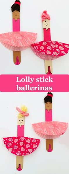 Enjoy making these beautiful ballerinas with just lolly sticks, bun cases and a few paints. A quick and easy kids craft that children can have lots of fun with. crafts for kids easy Beautiful Bun Case Ballerinas Quick Crafts, Crafts For Kids To Make, Crafts For Girls, Craft Stick Crafts, Projects For Kids, Art For Kids, Diy And Crafts, Paper Crafts, Big Kids